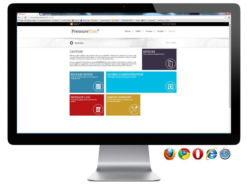 PressureTrac - System Page